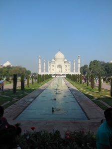 First view of the Taj Mahal