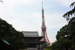 Zojoji Temple and the Tokyo Tower