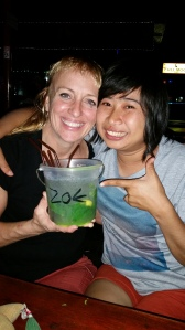 Lek and I sharing a bucket of mojito at Zoe in Yellow