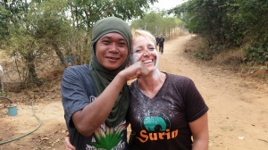 Krow and I after the Mahout Olympics